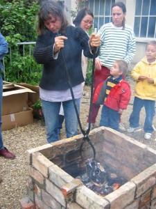 Four briqueté