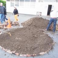 2-une couche de terre sur les briques